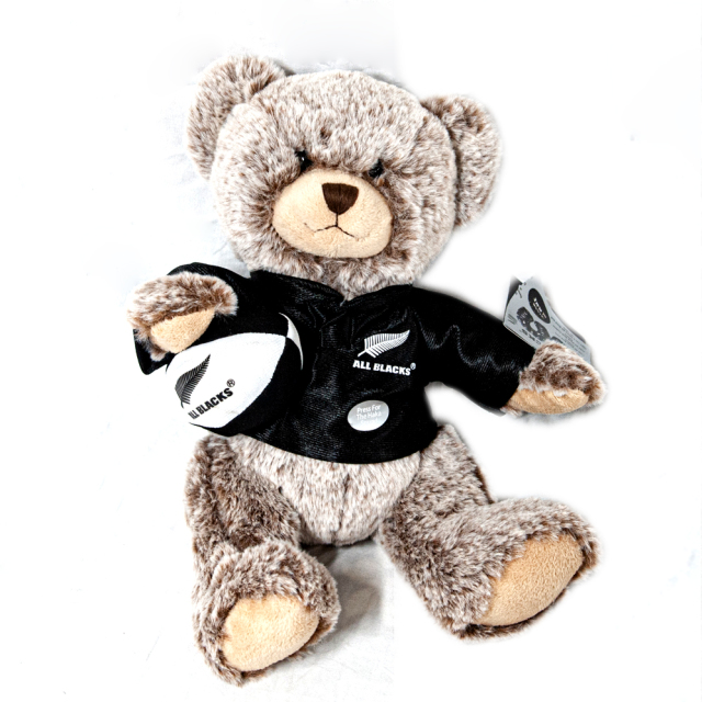 オールブラックス HAKA クラシックマスコット人形 クマ シルバー