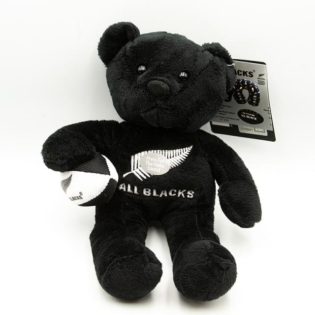 オールブラックス HAKA マスコット人形 クマ ブラック
