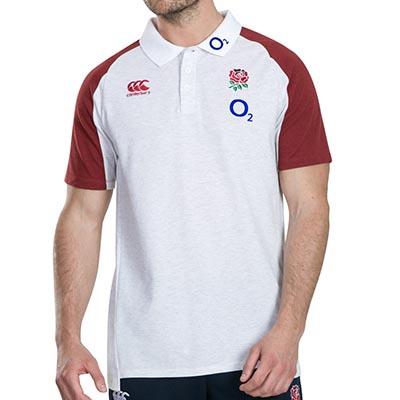 イングランド代表 19/20 ラグビーポロシャツ ホワイト