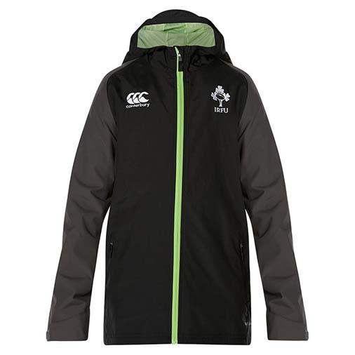 アイルランド代表 17/18 フルジップシャワープルーフジャケット ブラック