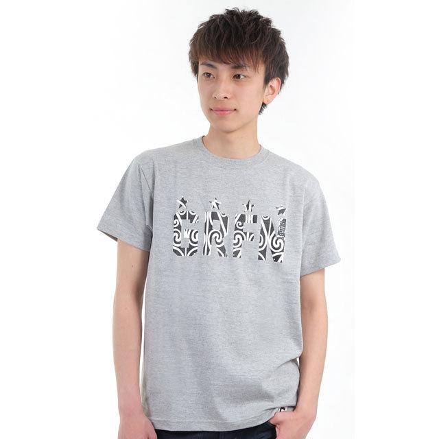 グリフィン GRFN マオリ柄Tシャツ グレー