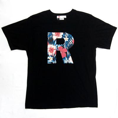 GRFN×JM1 R Tシャツ ハイビスカス ブラック