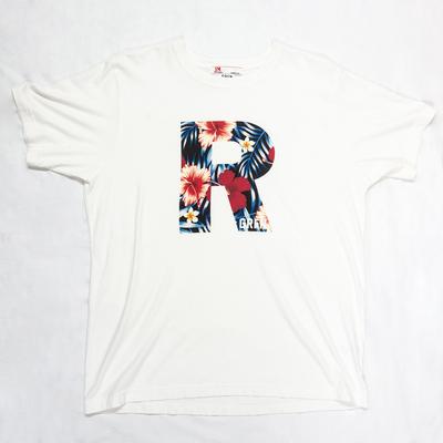 GRFN×JM1 R Tシャツ ハイビスカス ホワイト