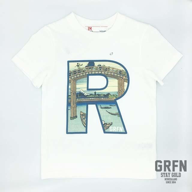GRFN×JM1 R Tシャツ クリーム