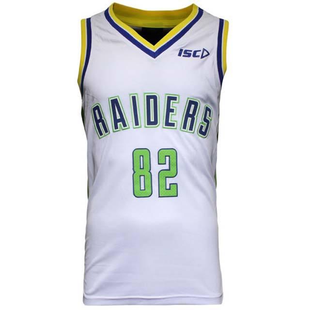 キャンベラ・レイダース 2015 NRL バスケットボールジャージ