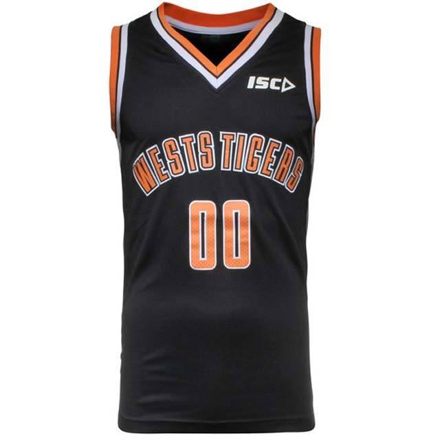 ウエスト・タイガース 2015 NRL バスケットボールジャージ