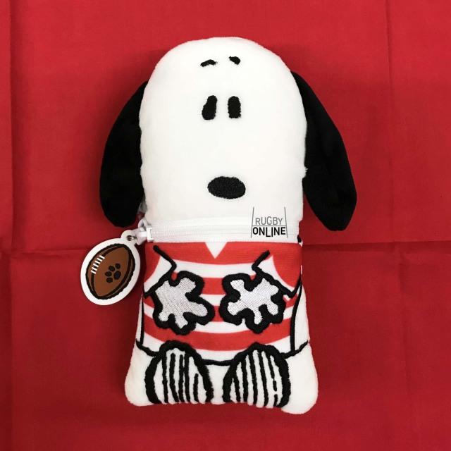 ラグビー日本代表 オフィシャル スヌーピー ぬいぐるみペンケース