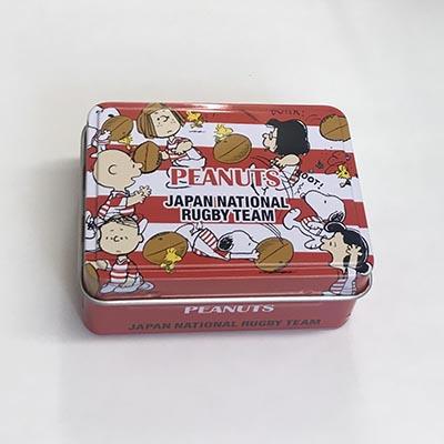 ラグビー日本代表 スヌーピー 缶入りWクリップ
