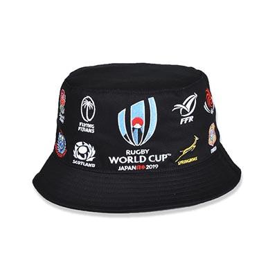 ラグビーワールドカップ2019(TM) 公式ライセンス 20 UNIONS ハット ブラック