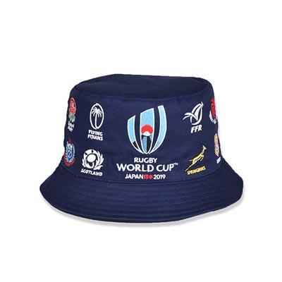 ラグビーワールドカップ2019(TM) 公式ライセンス 20 UNIONS ハット ネイビー