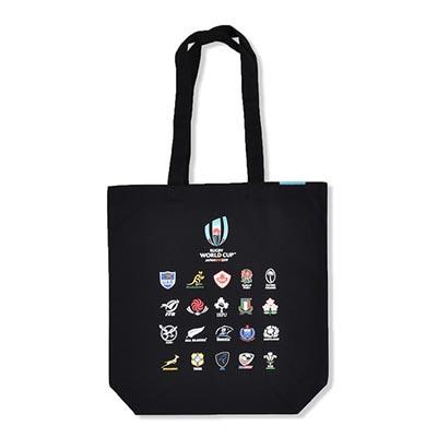 ラグビーワールドカップ2019(TM) 公式ライセンス 20 UNIONS トートバッグ ブラック