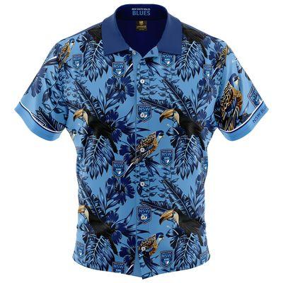 NSW ブルーズ 2019 NRL ハワイアンシャツ