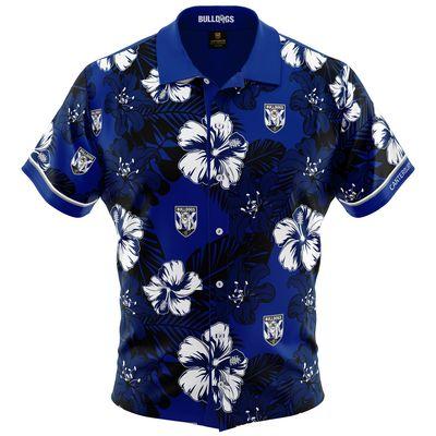 カンタベリーバンクスタウン・ブルドックス 2019 NRL ハワイアンシャツ