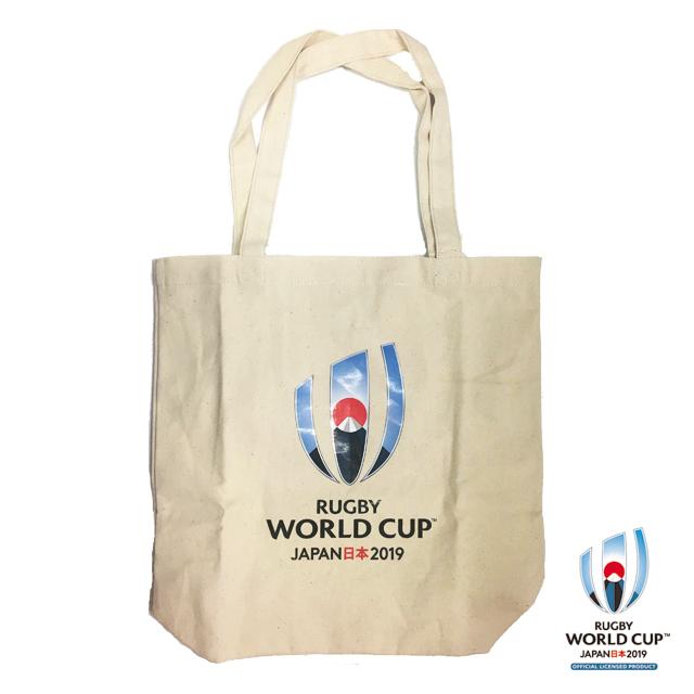 ラグビーワールドカップ2019(TM) 公式ライセンス トートバッグ M (ホワイト)