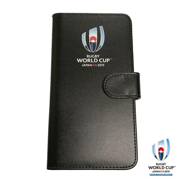 ラグビーワールドカップ2019(TM) 公式ライセンス iPhone X ケース 手帳型(ブラック)