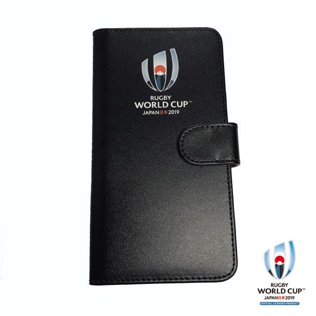 ラグビーワールドカップ2019(TM) 公式ライセンス 手帳型マルチ スマホケース(ブラック)