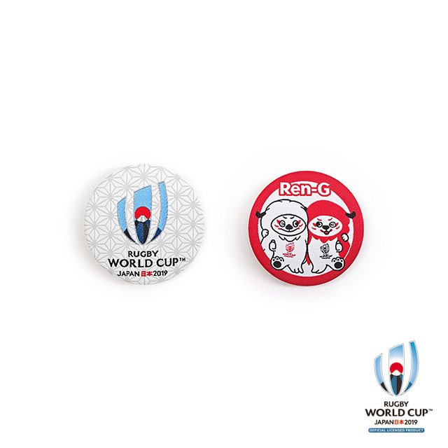 ラグビーワールドカップ2019(TM) 公式ライセンス ボタン缶バッジ2個セット 【全3種】