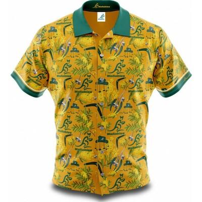 オーストラリア代表 ワラビーズ 2020  ハワイアンシャツ