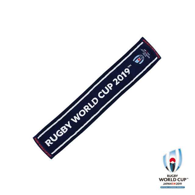 ラグビーワールドカップ2019(TM) 公式ライセンス ジャガードタオルマフラー(ネイビー)