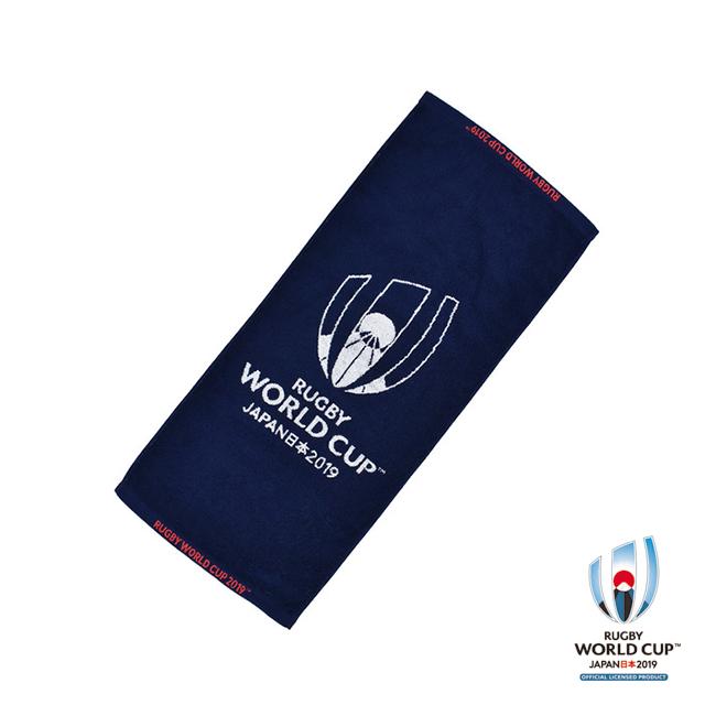 ラグビーワールドカップ2019(TM) 公式ライセンス ジャガードフェイスタオル(ネイビー)