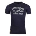 南アフリカ代表 スプリングボクス 17/18  グラフィックTシャツ ネイビー
