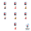 ラグビーワールドカップ2019 オフィシャル プレートキューピー 【全7種】