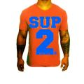 SUP2 Tシャツ オレンジ/ブルー