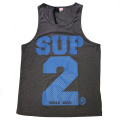 SUP2 シングレット Dry Fit ダークグレー×ブルー