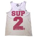 SUP2 シングレット ホワイト×ピンク
