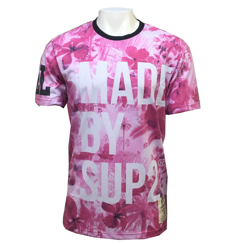 SUP2 PREMIUM Tシャツ PINK BLUR