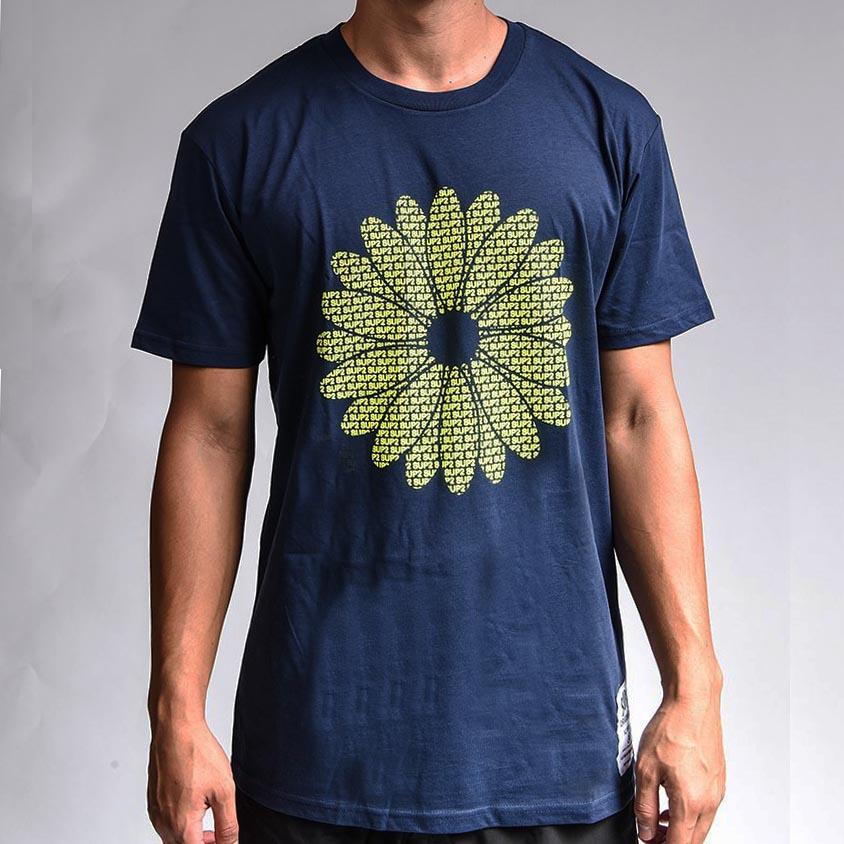 SUP2 Touchy daisy Tシャツ ネイビー