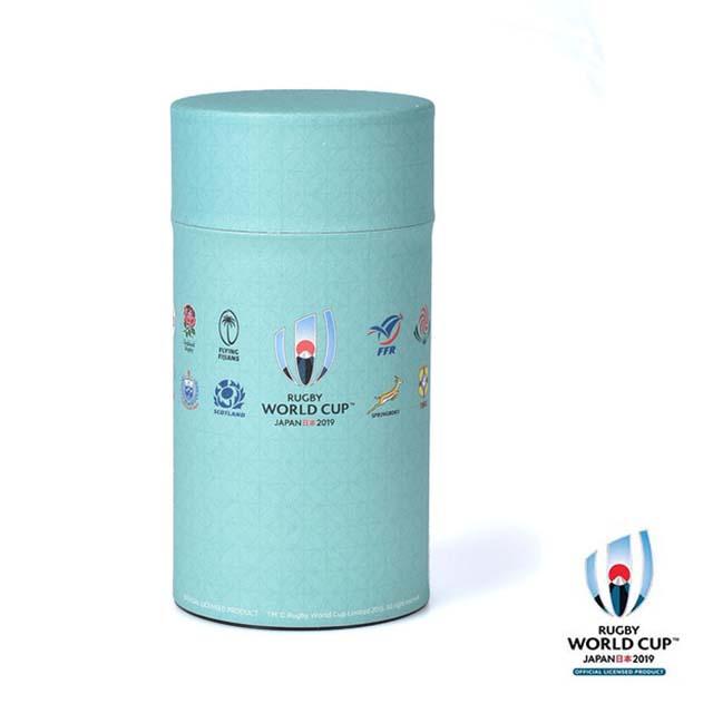 ラグビーワールドカップ2019(TM) 公式ライセンス 茶筒・珈琲缶 細 グリーン 七宝