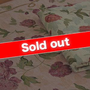 花模様ゴブラン織り「ローズ」ピンク 200×200cm  <折りたたみ可能><ホットカーペットカバー対応><FG、CN>(カラー:桃)
