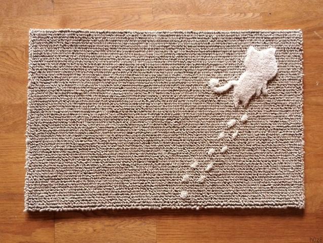 猫の玄関マット