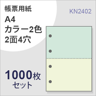 A4カラー2色2面4穴