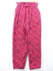 古着 レディース イージー パンツ 90年代 花 動物 ピンク 【spe】 19apr19 中古 ボトムス