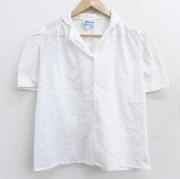 古着 半袖 シャツ レディース 80年代 80s 開襟 オープンカラー USA製 白 ホワイト 【spe】 21jun22 中古 ブラウス トップス