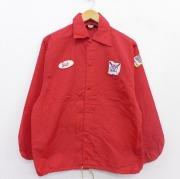 S★古着 長袖 ナイロン ジャケット 70年代 70s BOBBY SOX ソフトボール USA製 赤 レッド 【spe】 21jan20 中古 メンズ アウター ウインドブレーカー