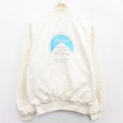 XL★古着 長袖 ジャケット 80年代 80s パラマウント Paramount 映画 刺繍 大きいサイズ USA製 生成り 【spe】 21jan20 中古 メンズ アウター ジャンパー ブルゾン