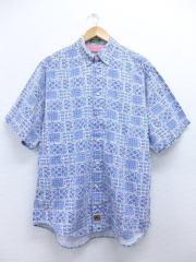 XL★古着 半袖 シャツ 薄紺 ネイビー 【spe】 19jun14 中古 メンズ トップス