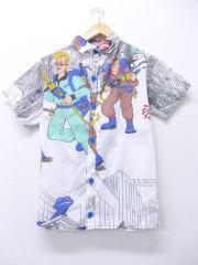 XS★古着 半袖 シャツ 80年代 ゴーストバスターズ ハンドメイド 白 ホワイト 【spe】 19aug20 中古 メンズ トップス