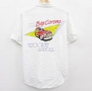 L★古着 半袖 シャツ 80年代 80s オーシャンパシフィック OP Big Corona 車 コットン 白 ホワイト 【spe】 21apr28 中古 メンズ トップス