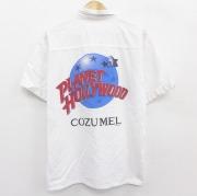L★古着 半袖 シャツ プラネットハリウッド COZUMEL 白 ホワイト 【spe】 21apr28 中古 メンズ トップス