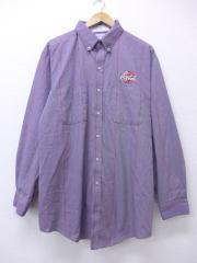 XL★古着 長袖 ワーク シャツ 90年代 コカコーラ 大きいサイズ USA製 紫 パープル 【spe】 18nov20 中古 メンズ トップス