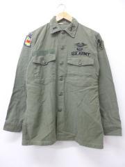 L★古着 長袖 ビンテージ ミリタリー シャツ 60年代 パラシュート部隊 USA製 緑 グリーン 【spe】 18nov20 中古 メンズ トップス