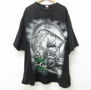 XL★古着 半袖 Tシャツ メンズ スタージス バッファロー バイク 大きいサイズ コットン クルーネック 黒 ブラック 【spe】 21jun22 中古