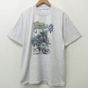 XL★古着 半袖 ビンテージ Tシャツ メンズ 00年代 00s モンスター 車 クルーネック 白 ホワイト 【spe】 21jun22 中古