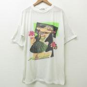 XL★古着 半袖 ビンテージ Tシャツ メンズ 90年代 90s カーオブザイヤー ロング丈 USA製 白 ホワイト 【spe】 21jun22 中古