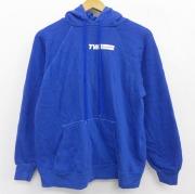 M★古着 長袖 スウェット パーカー 80年代 80s TWA トランスワールド航空 ラグラン USA製 青 ブルー 【spe】 21apr28 中古 メンズ スエット トレーナー トップス