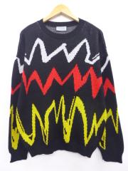 L★古着 長袖 セーター 80年代 USA製 黒他 ブラック 【spe】 19sep16 中古 メンズ ニット トップス